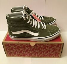 8eddbab8f728 VANS Mens Sk8-hi Winter Moss Green True White Canvas Suede Skate Shoes Size  8