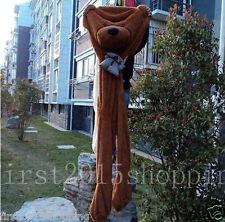 78''/200cm  brown BIG CUTE PLUSH TEDDY BEAR Skin semi-finished products gift