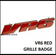 VW Golf VR6 Grill Badge Emblem Decal MK3 Grille Red Corrado Jetta Passat vr6r