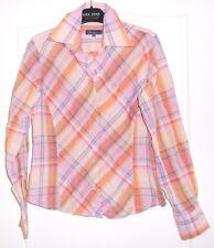 Jolie chemise à carreaux tons rose FACONNABLE T XS = 36 TBE
