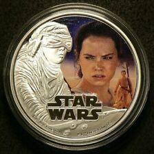 2016 $2 Dollars Star Wars Rey Silver 99.9% #6826