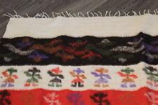 Vintage Hand Woven Guatemalan Wool Blanket Wall Hanging Tapestry Rug