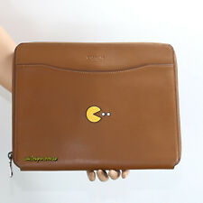 NWT Coach Pac Man Leather Tech Business Document Lap Top Case F56058 Brown New