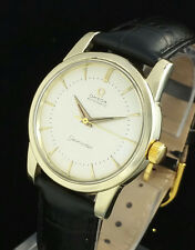 VINTAGE OMEGA 501 AUTOMATIC MENS WRIST WATCH - 14K GOLD CAP - MINT DIAL