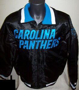 CAROLINA PANTHERS Starter Full Zip  Jacket BLACK  M L XL 2X