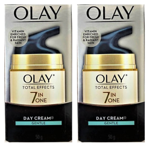 Olay Total Effects 7 in One, Anti Aging Day Cream, Gentle, 1.7 oz (2 Pack)