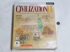 NEW Sid Meier's Civilization II Macintosh Big Box Game SEALED Mac 2 (READ INFO)