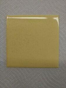 "VINTAGE yellow speckled NIB PLASTIC TILE 4 1/4"" wall bathroom kitchen"