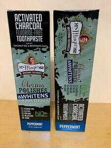 2x My Magic Mud  Activated Charcoal  Fluoride-Free  Whitening Toothpaste