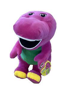 """NEW Fisher Price Speak n Sing Barney JUMBO 26"""" SOFT Talking Singing Plush Toy"""