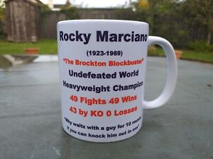 Rocky Marciano Tribute Boxing 11oz our design (new) Birthday / Christmas Gift