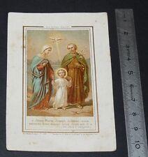 CHROMO 1870-1900 IMAGE PIEUSE CATHOLICISME JESUS MARIE JOSEPH STE FAMILLE
