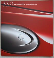 Ferrari 550 Barchetta Pininfarina Brochure Excellent Condition