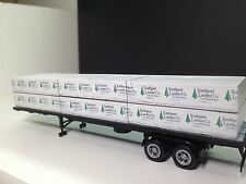 HO 1/87 Lumber Load - Southport Lumber w/ Promotex 48' - 2-axle Flatbed Trailer
