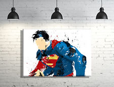 Superman framed Canvas Wall Art