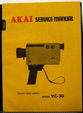 Akai VC-30 Colour Video Camera Service Manual - Original