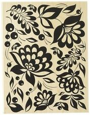 LARGE FLORAL BACKGROUND Rubber Stamp S6150 Hero Arts Brand NEW! leaves berries