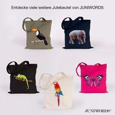 """JUNIWORDS Jutebeutel """"Low-Poly Tiere"""" ver. Motive und Farben Tasche Geschenk"""