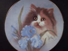 1988 Hamilton Petals and Purrs SUMMER SUNSHINE Cat & Iris Ltd Ed Plate