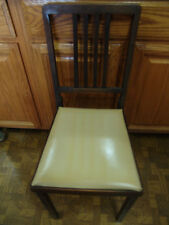 ANTIQUE LEG O MATIC WOODEN CHAIR W/SLAT BACK FOLDING CHAIR FOLDS INTO A SQUARE