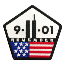 9/11 REMEMBER Twin Towers Embroidered iron on Sew on 3 inch Patch (M11)