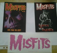 Official Misfits Sticker and postcard set..