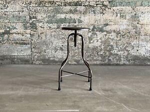 Adjustable Industrial Bare Metal Stool Restaurant Seating Rustic Swivel