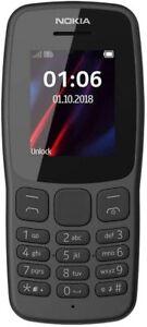 Brand New Nokia 106 Black (Unlocked) Dual Sim Phone + 3 Months of FREE Service
