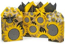 Gift Bags With Tissue Paper - Sunflower Matching Tissue Paper and Raffia Ribbon
