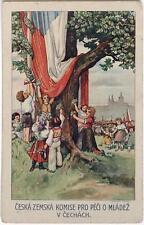 Original des années 1910 CP Czech, patriotisme
