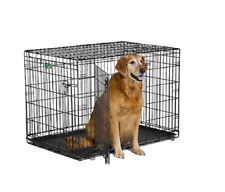 Wire Crates For Dogs Large Kennel 2 Door Folding Metal Puppy Pen Easy Clean