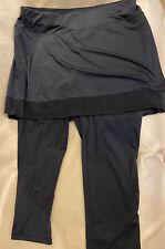 size LARGE-Stretch SanSoleil Tennis & Golf Cooling Skort & Leggings upf 50