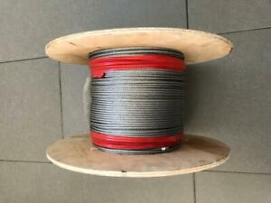 75 Metre Roll of Stainless Steel Wire Rope cable 3mm  6x7