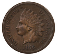 Raw 1876 Indian Head 1C Ungraded US Minted Small Cent Coin