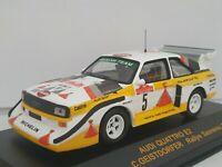 1/43 AUDI QUATTRO E2 ROHRL 1985 SANREMO RALLYE IXO RALLY CAR ESCALA DIECAST