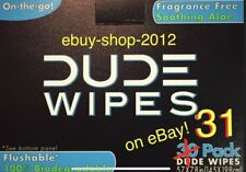 "DUDE WIPES ""31"" Single Wipes...30 Pack Box + 1 = 31 WIPES...Fast Shipping!🚽🚨"