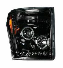 2011-2013 Ford F-250 F-350 Super Duty Smoked Projector CCFL Halo DRL Headlights