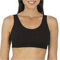 Fruit of the Loom Women's Built-Up Sports Bra,, Black, Size 42 ZYIF