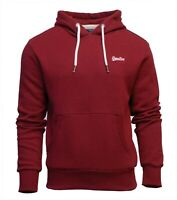 Superdry Mens New Orange Label Overhead Long Sleeve Pullover Hoodie Red