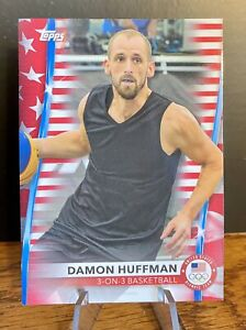 Damon Huffman 2020 2021 Topps US Olympics Flag Parallel /299 #44 3v3 Basketball