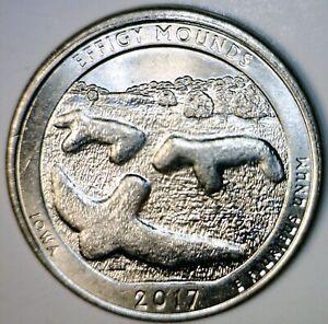 2017 TRIPLE ERROR sm OFF CENTER Broad Struck Prtl Col Effigy Quarter Coin O/C NR