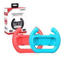 2X Volant Joy-con Steering Wheel Controller Handle Holder Grip Nintendo Switch B
