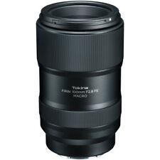 New Tokina FiRIN 100mm f/2.8 FE Macro Lens for Sony E Full-Frame Digital Camera