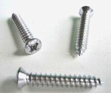"Chrome #8 X 1"" Long Phillips Oval Head Tapping Screws 50"