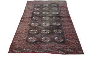 Antiker Handgeknüpfter Orientteppich UdssR Buchara Yomut Tapis Carpet 155x100cm