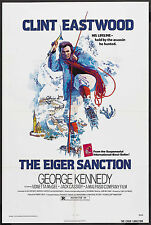 The Eiger Sanction original 1975 movie poster Clint Eastwood/Mountain Climbing