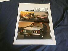 1976 Volvo 260 and 240 Full Line Color Brochure Catalog Prospekt