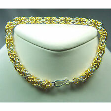 Byzantine Chain Maille Bracelet- Gold & Sterling Silver