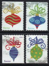 Scott #4571-74 Used Set of 4, Holiday Baubles Forever Stamps