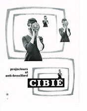 PUBLICITE ADVERTISING 044   1960   CIBIE    projecteurs & anti- brouillards
